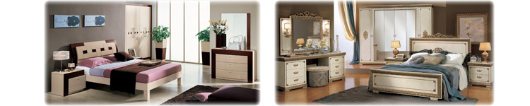 Italian bedroom sets by EM ITALIA. Classic and Contemporary designs available